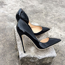 Black Gloss Patent Pumps Shoes