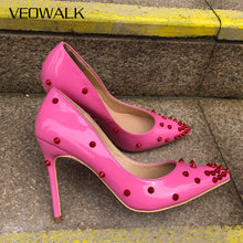 Red Rivets Pumps - Sherilyn Shop