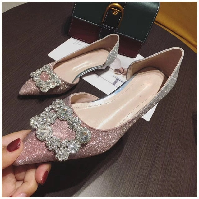 Sparkling Flat Shoes - Sherilyn Shop