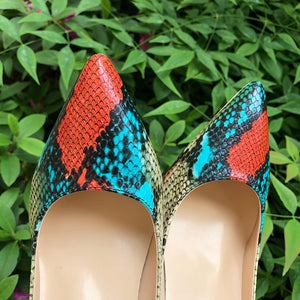 Snake Patern Nude Turquoise - Sherilyn Shop