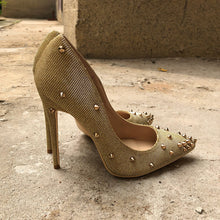 Gold Rivets Pumps - Sherilyn Shop