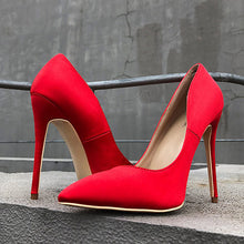 Red Silk Satin Pumps - Sherilyn Shop