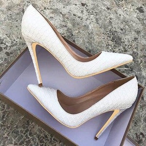 White Wedding Pumps Shoes