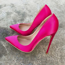 Hot Pink Silk Satin Pumps - Sherilyn Shop