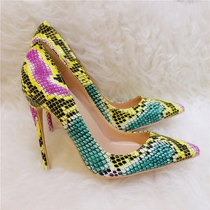 Colorful Snake Embossed - Sherilyn Shop