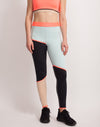 BUTTER COLOR BLOCK LEGGING front