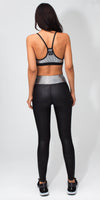 Core Matte Black Foil Legging