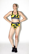 banana bathing suit with Humbly Cocky bands