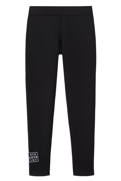 Black legging front flat view