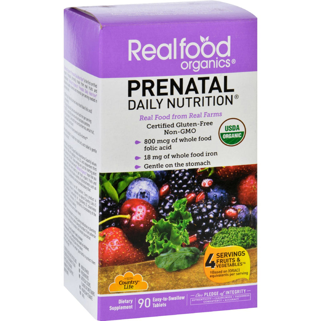 Realfood Organics Daily Nutrition  Organic  Prenatal  90 Tablets