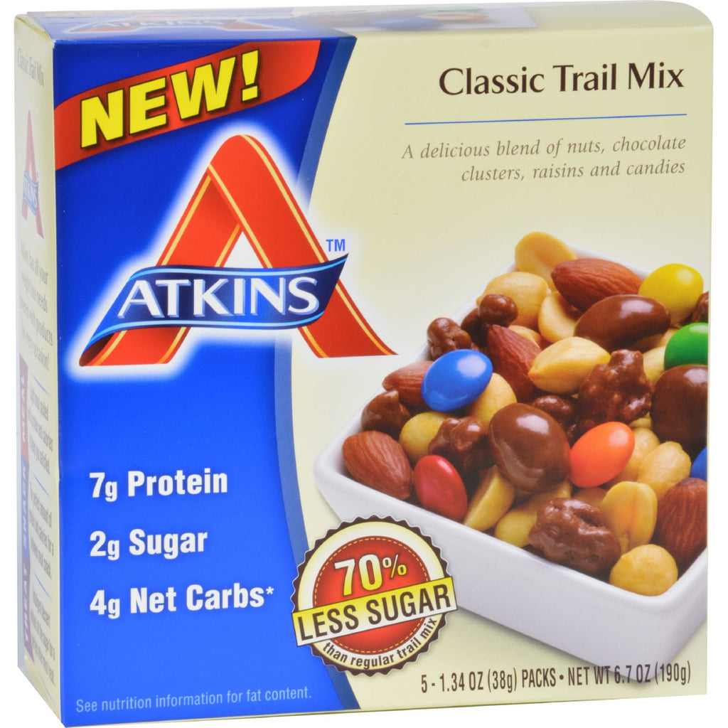 Atkins Trail Mix  Classic  1.34 oz  5 Count  Case of 4