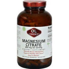 Olympian Labs Magnesium Citrate  400 mg  Value Size  300 Capsules