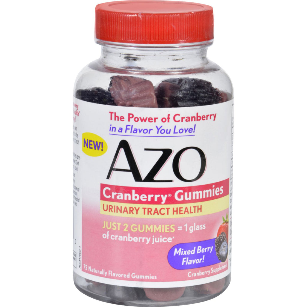 Azo Cranberry Gummies  72 Count