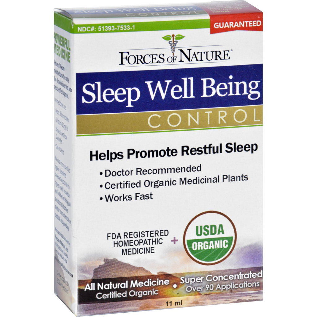 Forces of Nature Organic Sleep Well Being  11 ml