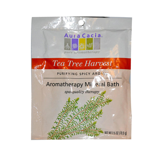 Aura Cacia Aromatherapy Mineral Bath Tea Tree Harvest (6x2.5 Oz)