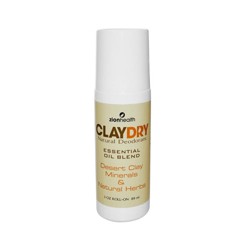 Zion Health Clay Dry Natural Deodorant 3 Oz