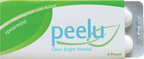 Peelu Chewing Gum Display Spearmint (12x8 Count)