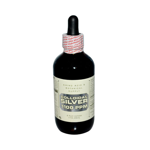 Amino Acid and Botanical Supply Liquid Colloidal Silver 1100 ppm (4 fl Oz)