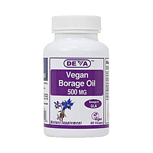 Deva Vegan Borage Oil 500 mg (90 Vcaps)