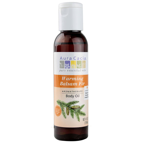 Aura Cacia Aromatherapy Warming Balsam Fir Body Oil (4 fl Oz)
