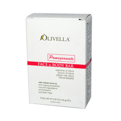 Olivella Face and Body Bar Soap Pomegranate 5.29 Oz