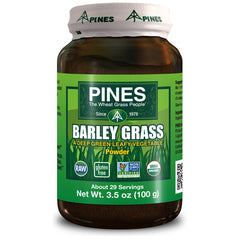 Pines International 100% Organic Barley Grass Powder 3.5 Oz