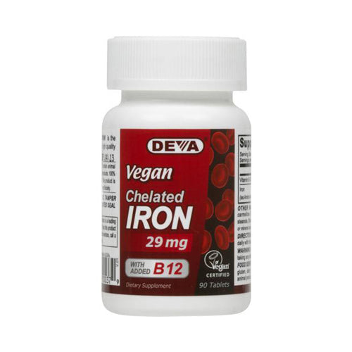Deva Vegan Vitamins Chelated Iron 29 mg (1x90 Tablets)
