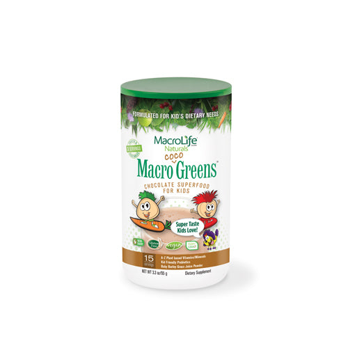 MacroLife Naturals Jr. Macro Coco-Greens for Kids Chocolate 3.3 Oz