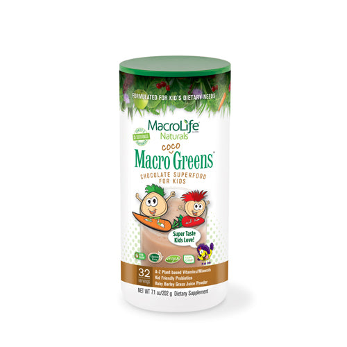 MacroLife Naturals Jr. Macro Coco-Greens for Kids Chocolate 7.1 Oz