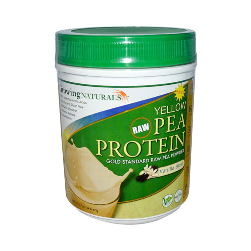 Growing Naturals Yellow Pea Protein Vanilla Blast 16 Oz