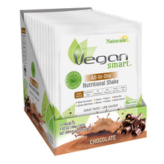 Naturade VeganSmart All-In-One Nutritional Shake Chocolate 1.62 Oz (12 Pack)