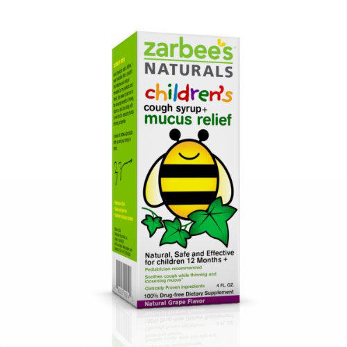 Zarbee's Naturals Children's Mucus Relief + Cough Syrup Grape 4 Oz