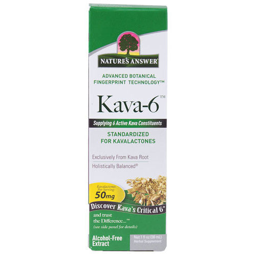 Nature's Answer Kava 6 Extract Alcohol Free 1 Oz