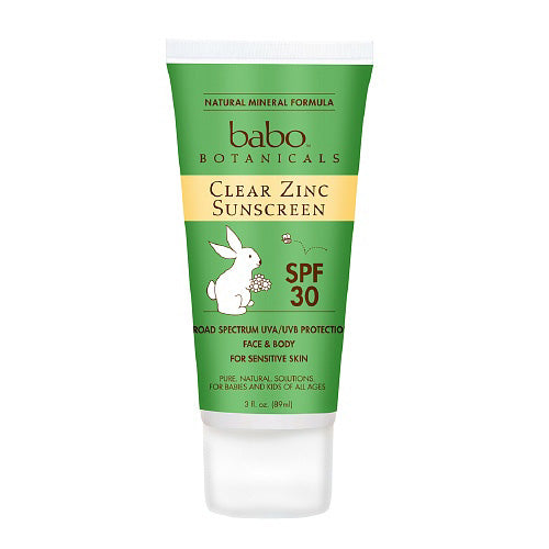 Babo Botanicals Sunscreen Clear Zinc Unscented SPF 30 (1x3 Oz)