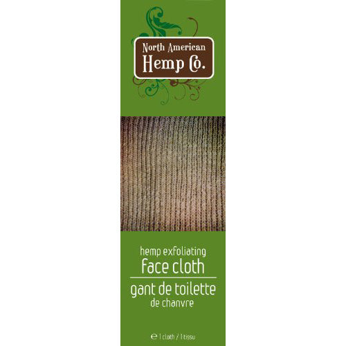 North American Hemp  Face Cloth (1 Count)