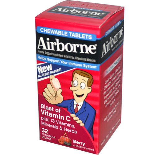 Airborne Chewable Tablets with Vitamin C Berry (1x32 Tablets)