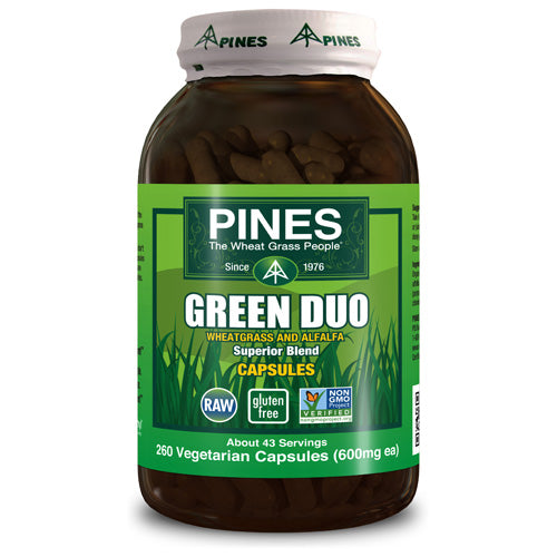 Pines International Green Duo Organic Capsules (260 Veg Capsules)