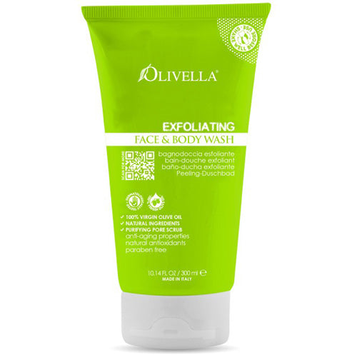 Olivella Face and Body Wash Exfoliating (10.14 fl Oz)
