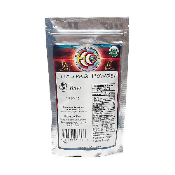 Earth Circle Organics Lucuma Powder  Organic  8 oz