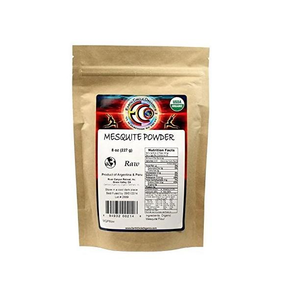 Earth Circle Organics Mesquite Powder  Organic  8 oz