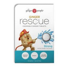Ginger People Ginger Rescue  Strong  24 Chewable Tablets  Case of 10
