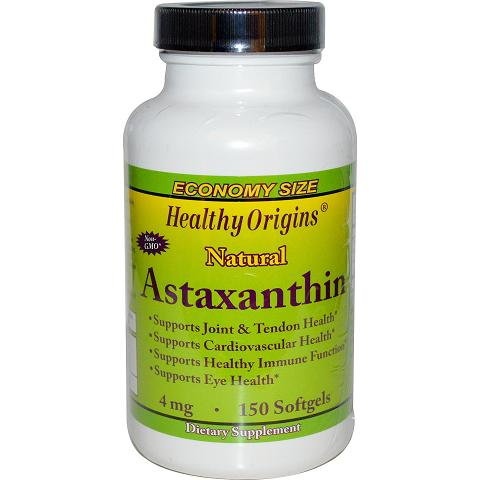 Healthy Origins Astaxanthin  Natural  4 mg  150 Vegetarian Capsules