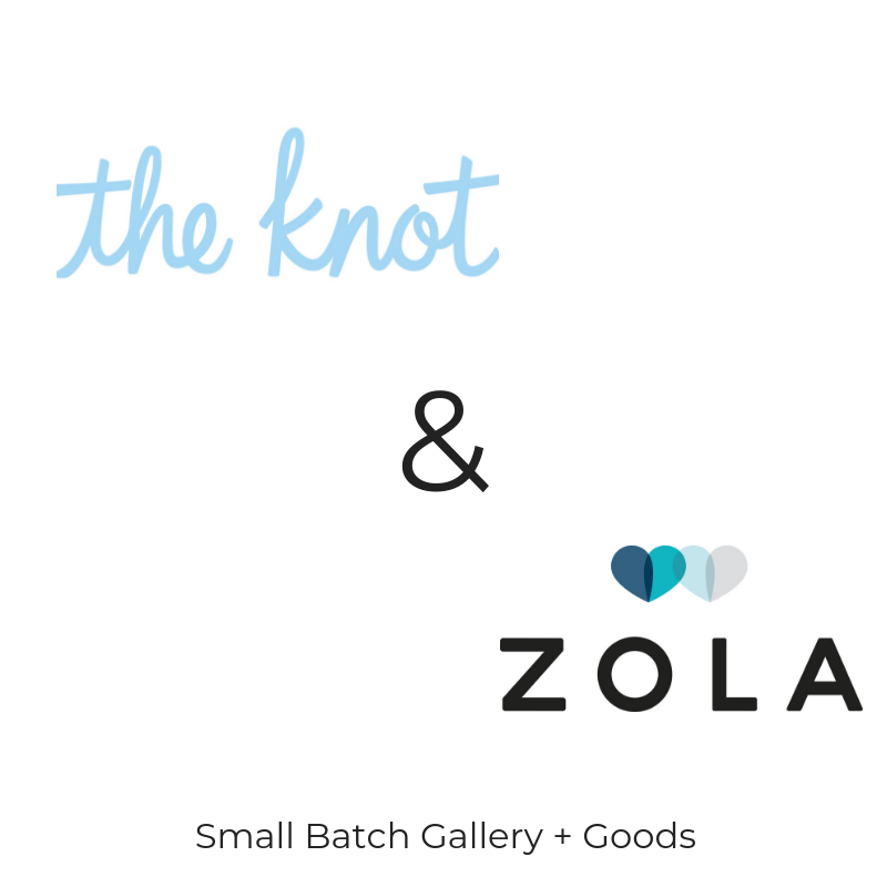 Find us on Zola and The Knot !