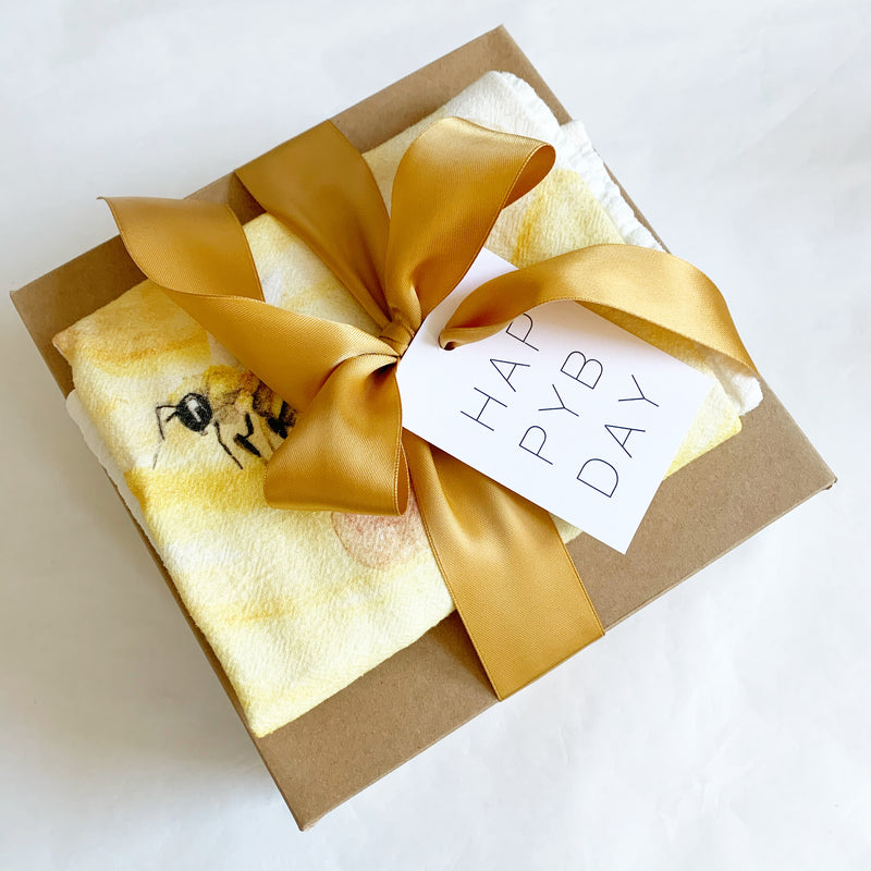 Local honey, bee hand towel and loose leaf tea make a great gift. Available at Small Batch Gallery in New Bern NC