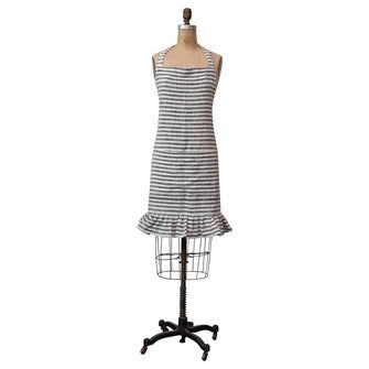Black & White Striped Apron