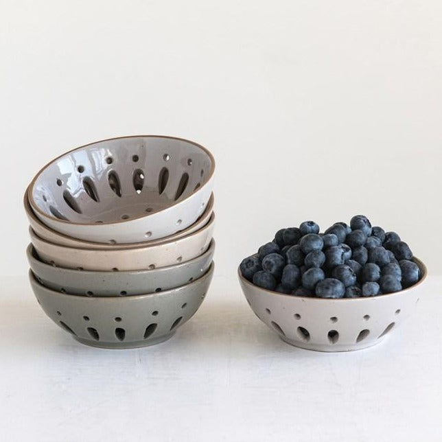 Stoneware Berry Bowls
