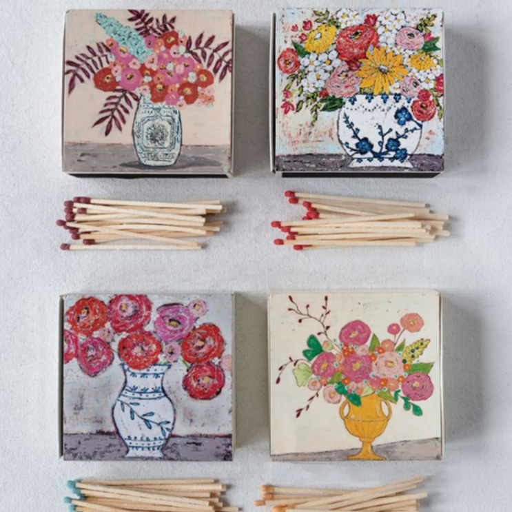 Floral Illustrated Matches