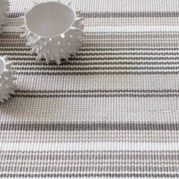 Dash & Albert Gradation Ticking Indoor/Outdoor Rug