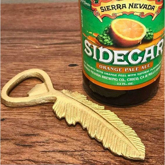 Feather Bottle Opener, bar accessory, opens beer and wine bottles, available at Small Batch Graphics and Goods in New Bern, NC
