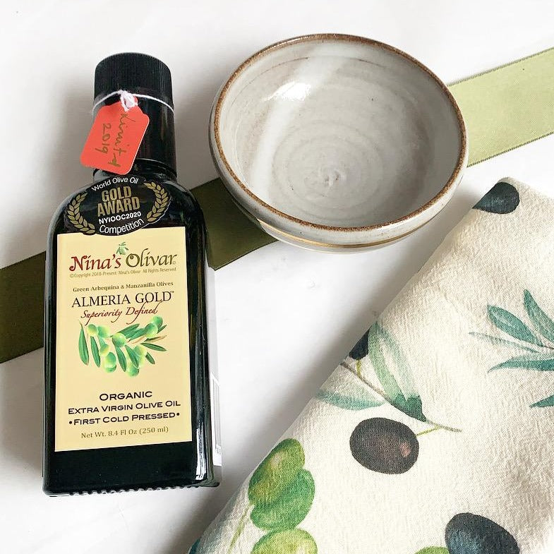 Nina's Olivar olive oil from Spain. Small Batch New Bern NC